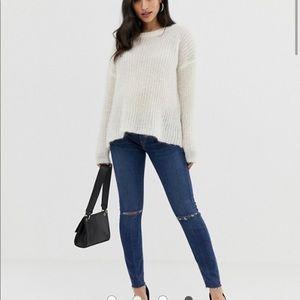 ASOS DESIGN Maternity distressed skinny jeans sz4